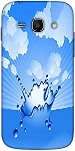 Snoogg Clear Water Splash Vector Solid Snap On - Back Cover All Around Protec...