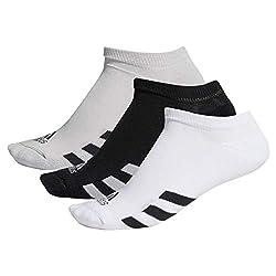 adidas Herren M 3pck Noshow Sportsocken, Schwarz (Negro/Gris/Blanco Dm6092), One Size (Herstellergröße: 6912)