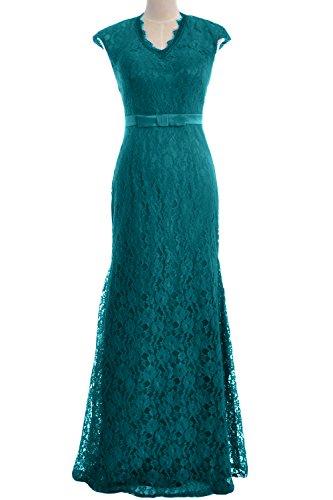MACloth - Robe - Moulante - Manches Courtes - Femme bleu sarcelle