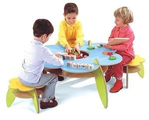 JeuJura - Loisir Créatif - Table D'Activite Avec 3 Tabourets