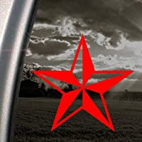 Nautical Star Red Decal Car Truck Bumper Window Red Sticker