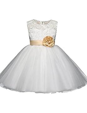 Vestido de fiesta para niñas Vestido de dama de honor de flores vestido de niña de la princesa Vestido de fiesta...