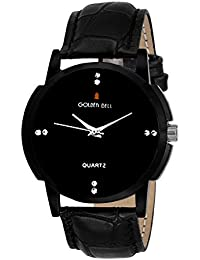 Golden Bell Original Black Dial Black Strap Analog Wrist Watch For Men - GB-939