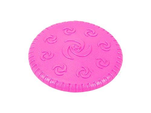 forpet® 019649Spiel für Tier, Frisbee Rund mit Rillen und Spiralen in Relief Durchmesser 14.9cm Pink, Disco Volante, Spiel Outdoor für Hunde, Spielzeug für Hund, Spiel für Welpen, Frisbee Dog. -