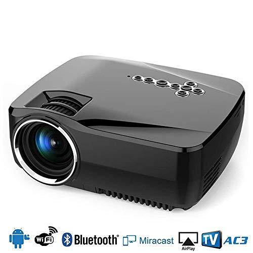 KAIDILA Projektor, Wifi Bluetooth Android 4.4 Projektor mit Google Spiel Gp70up 1G RAM 8G ROM Unterstützung 1080p analoge TV Mini LED Pr Ojector