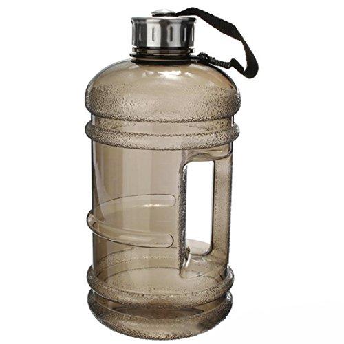 (Sport-Wasser-Flasche mit großer Kapazität von 2,2 L, inklusive Getränk-Kappe für Outdoor-Aktivitäten, schwarz)