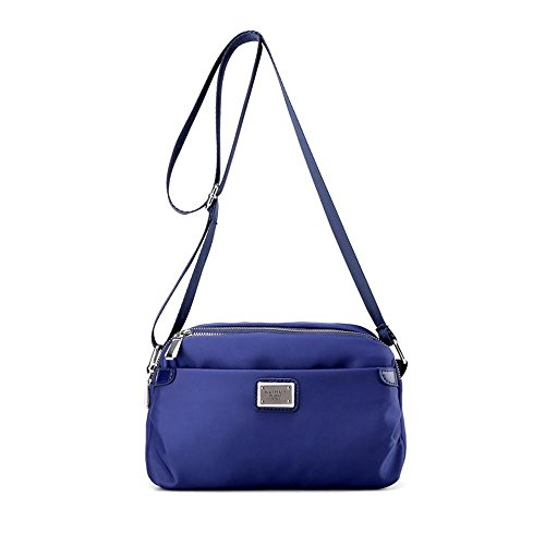 Messenger Bag Damen Tuch Reise Freizeit Wasserdichte Nylon Schulter Blue