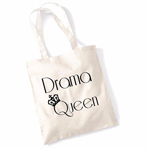 Print Canvas Shopper (Tote Bag für Frauen Drama Königin Slogan Print Shopper Shoulder Canvas Bags 100% Cotton)