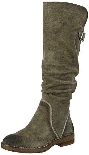 Be Natural Damen 25604 Stiefel, Grün (Olive), 38 EU Grüne Leder Stiefel