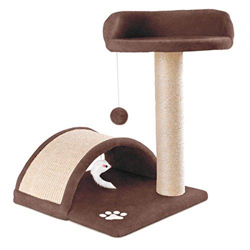 Kewayes MC Haus MAA0500C Albero tiragraffi per Gatti con Piattaforma e Palla da Gioco