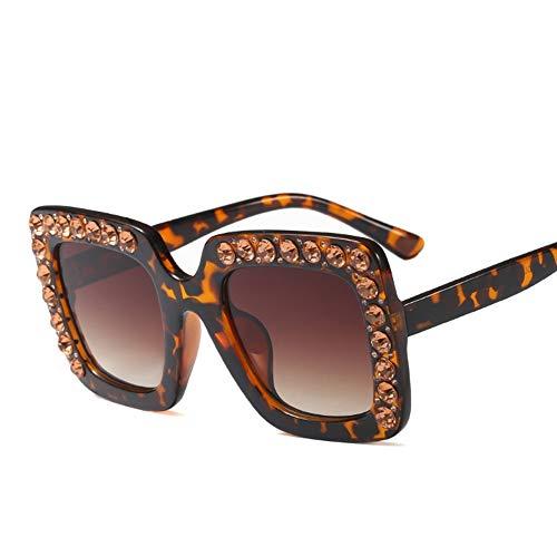 Lisa旗舰店 Modetrend Diamantbesetzte quadratische große Kinderbrille für Kinder im Alter von 8-12 Jahren,Brown (Schmuck-box Für Kinder Im Alter Von 8)