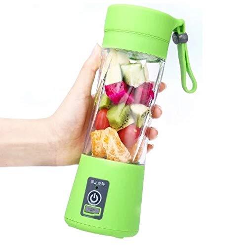 NCBH Mini Exprimidor Portátil Multifunción USB Recargable Frutas Verduras Licuadora 380Ml 6 Cuchillas 1500 Mah Adecuado para Interiores al Aire Libre