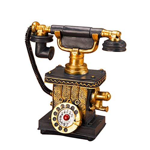 VNEIRW Retro Telefon Nachbildungen Europäischen 1920er Stil Harz Wählscheibe Telefon Dekoration Cafe Bar Fenster Dekoration Fotografie Requisiten (A)