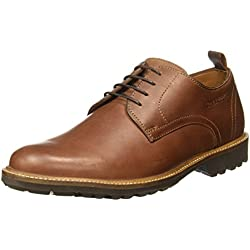 Hush Puppies Men's Debonair Oily Brown Leather Formal Shoes