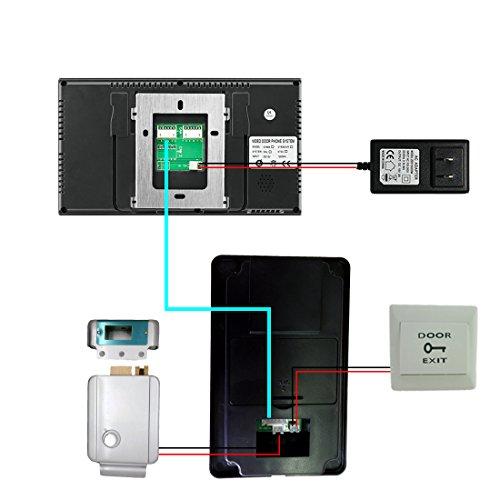 PUTECA 7 inch TFT LCD 700TVL 5 IR LED Night vision Camera 5PCS ID card Wire Video Door Phone Doorbell Intercom System 1 VS 1