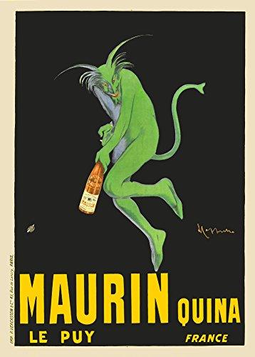 Spirituosen-kunst-plakat (Vintage Beers, Weine und Spirituosen Maurin Quina, Frankreich 'J.M. Barrie von Leonetto Cappiello 250gsm, Hochglanz, A3, vervielfältigtes Poster)