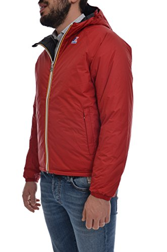 K-WAY FOR MAN LOIS PADDED DOUBLE MODEL Red Scarlet-Black