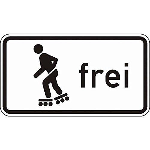 LEMAX® Schild Inline-Skaten und Rollschuhfahren frei Verkehrsz. 1020-13, 420x231mm Alu