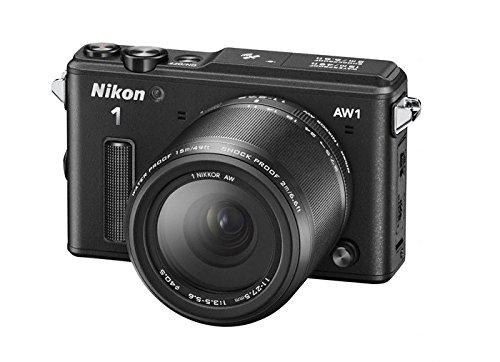 Nikon 1 AW1 Systemkamera (14,2 Megapixel, 7,6 cm (3 Zoll) TFT-Display, Full HD, HDMI, wasserdicht) Kit inkl. 11-27,5mm Objektiv schwarz