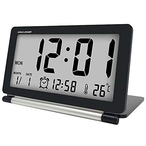 Cikuso Reloj Despertador De Viaje LCD Mini Alarma