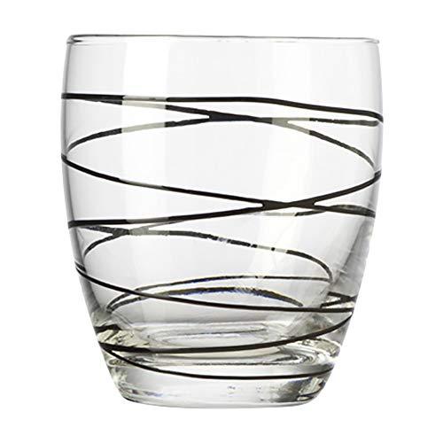 montana :swirl Trinkbecher schwarz, 6-er Set, 330ml, Höhe 9,5cm, spülmaschinengeeignet, 037198