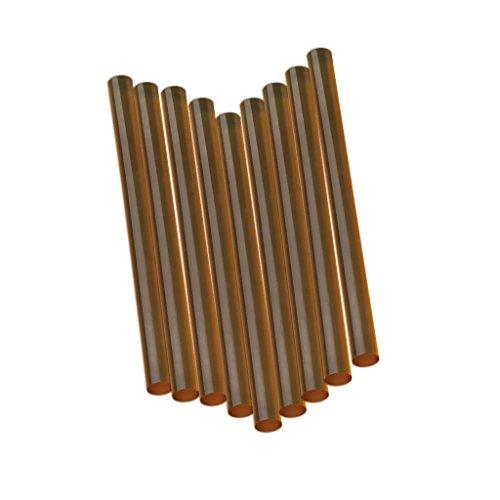 12pcs Bâton de Colle Thermofusible Adhésif Dur pour Extension de Cheveux - Transparent