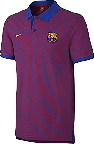 Nike Fcb Auth GS–Polo manches courtes Ligne FC Barcelona pour homme XL Bleu (Game Royal / True Red / University Gold)