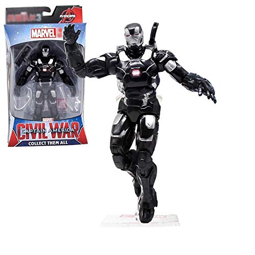 Tony Kostüm Stark Iron 3 Mann - MA SOSER Marvel Iron Man War Maschinenspielzeug, Iron Man Action Figure - 6 Zoll