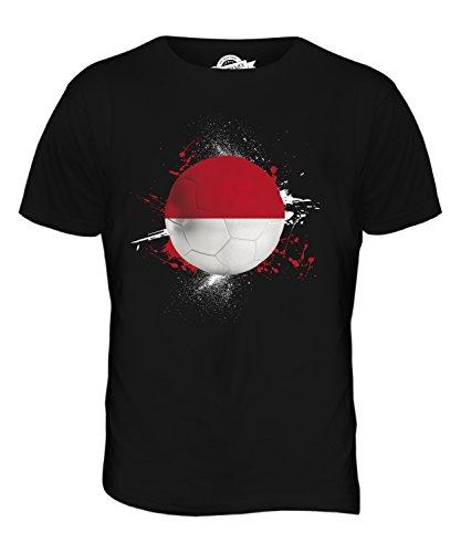 CandyMix Indonesien Fußball Herren T Shirt Schwarz