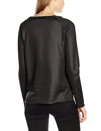 ONLY Damen Sweatshirt Onlasher L/S O-Neck Swt Schwarz (Black Detail:ZIP POCKET)