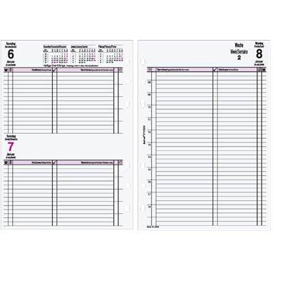 bind B550318 Kalendereinlage A5, 2018