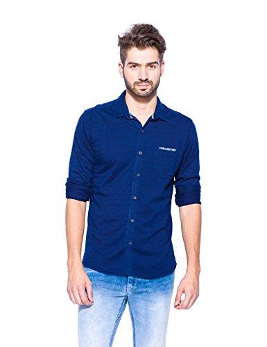 Mufti Cotton Shirt Mfs-6512-b-61-blue Dark