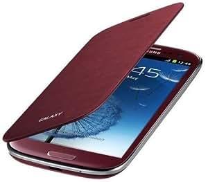 iTronik Étui avec rabat pour Samsung Galaxy S3 SIII I8910 Mini Rouge grenat