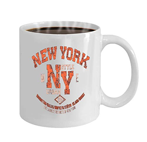Mug - 11oz (White) Coffee Mug typography print new york urban theme serigraphy st