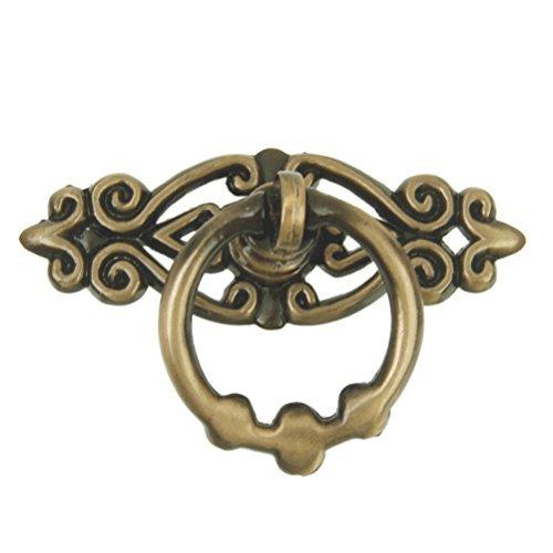 Traditionelle Schrank-tür-ziehen (WINOMO Alte Tür Schrank Knöpfe Schrank Kommode Schublade Ring Griffe - 10Stk.)