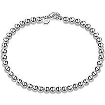 Kanggest Pulsera de Plata Elegante y con estilo Perla Pulseras de Nuevo Estilo para Mujeres de la Joyería Accesorios