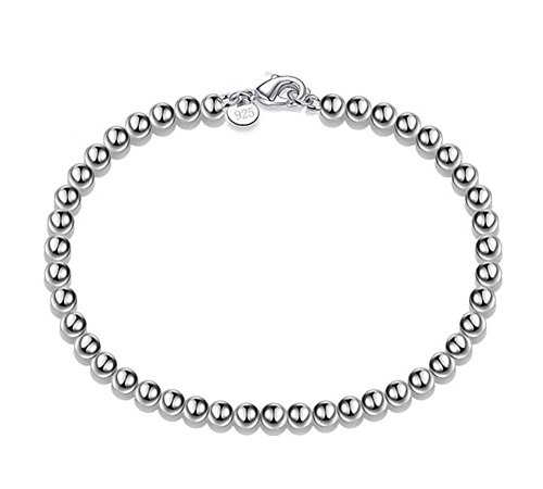 Scrox Charm Fashion Hollow Beads Silver Bracelet For Women Girls Present,With a Jewelry Bag