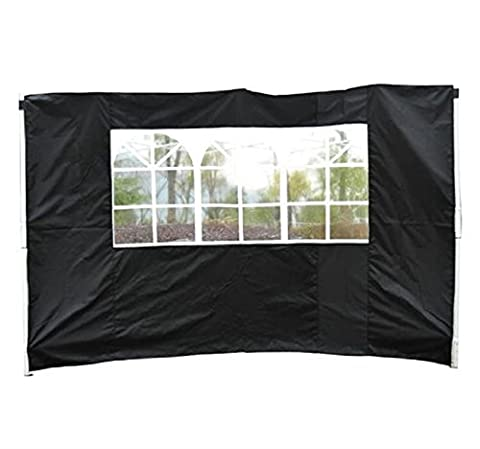 Outsunny 3m Gazebo Exchangeable Side Panels Wall W/ Window-Black - Side walls can be easily removed and can be easily added with Velcro attachments.