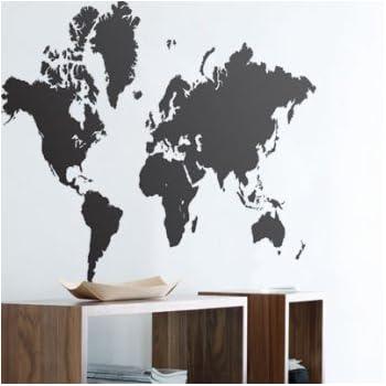 World Map Wall Sticker   Wall Art Graphics Part 65