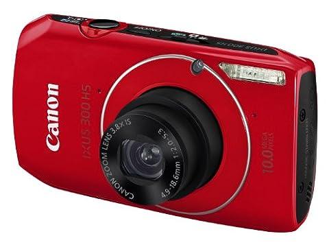 Canon IXUS 300 HS Digital Camera - Red (10.0 Megapixel,