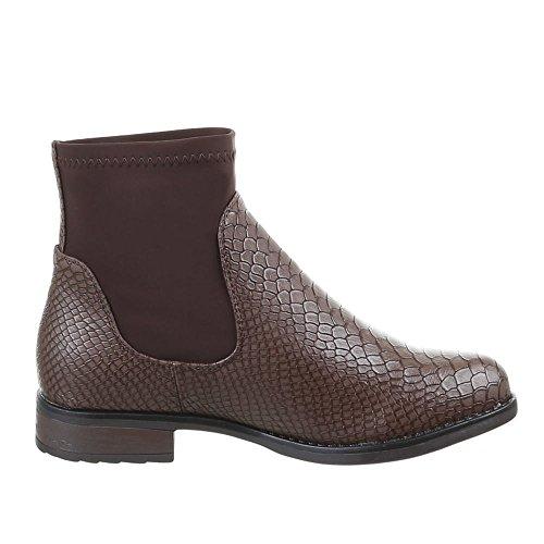 Chaussures, bottines 55002–pa Marron - Marron foncé