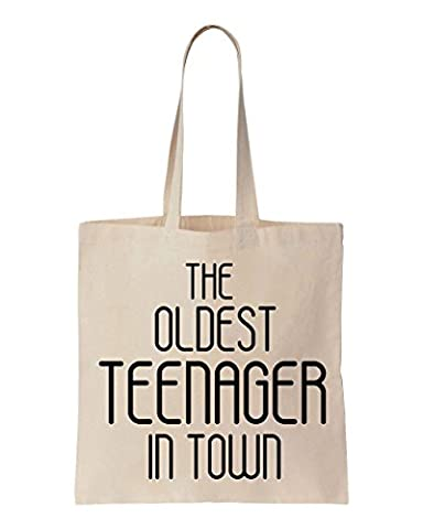 The Oldest Teenager In Town Cotton Canvas Tote Bag