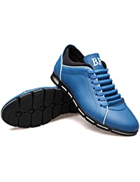 Beikoard-scarpa Scarpe Sportive Uomo Elegante Casual da Uomo Business in  Pelle Tinta Unita con 42652d27518