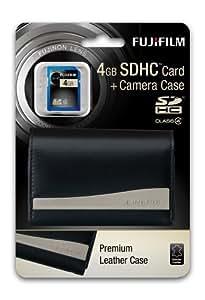 Fujifilm F300EXR,F500EXR,F550EXR Premium Leather Case And 4GB SDHC Media Card
