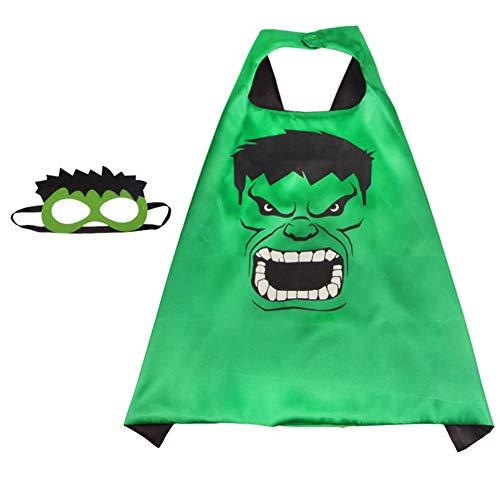 RosewineC Superhelden-Kostüme für Kinder, Jungen, Mädchen, Partyzubehör, Cartoon-Umhang für Kinder Gr. Einheitsgröße, 3 with mask