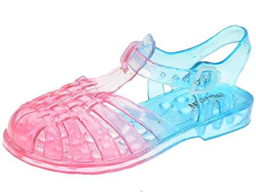 Bild von Beppi Kinder Badeschuhe Sandalen für Jungen und Mädchen - Ideal für Strand, Meer und Schwimmbad 2148261, Fuchsia/Blau, 24