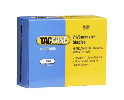 Tacwise 0367 Boîte de 20000 Agrafes galvanisées 6 mm Type 71