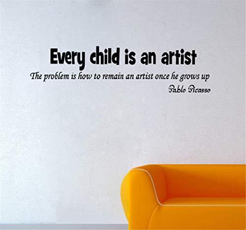 Wandtattoo Kinderzimmer Wandtattoo Schlafzimmer Jedes Kind ist ein Künstler. Das Problem ist, wie man ein Künstler bleibt, wenn er groß ist
