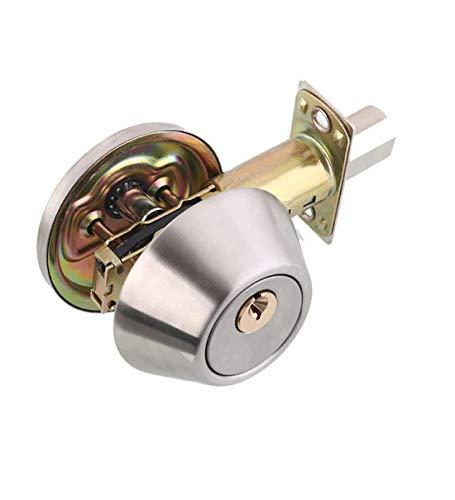 Drenky Home Edelstahl Einzylinder Sicherheitsschloss Deadbolt Lock Einstellbare Verriegelung 60mm - 70mm