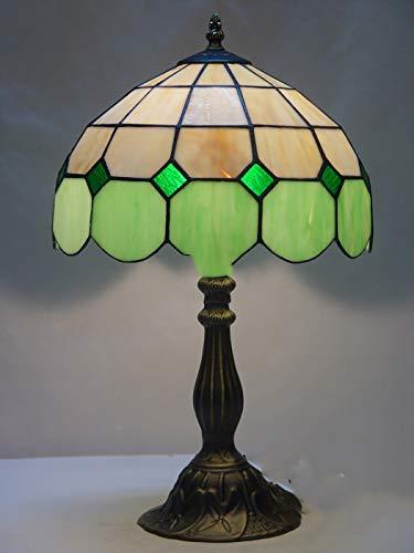 HHRONG Warmes warmes Licht der europäischen Tiffany-Tischlampenschlafzimmernachttischlampe Retro kreatives Barcafé - Bronze Tiffany Tischlampen